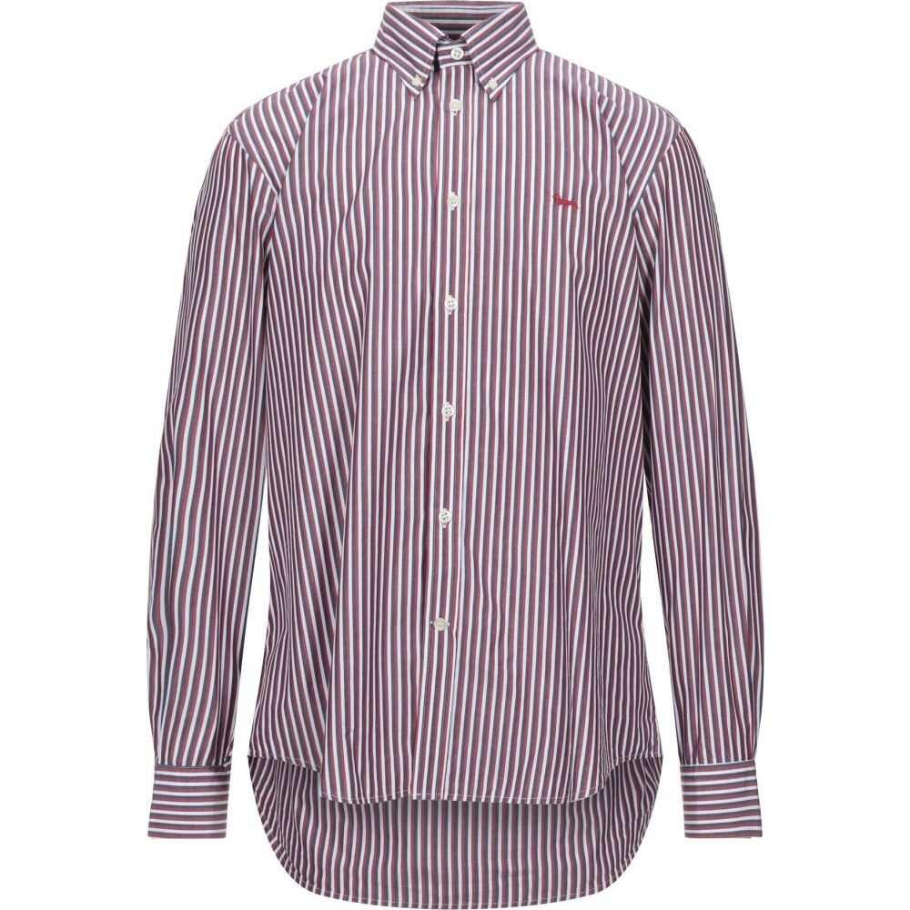 ハーモント アンド ブレイン HARMONT&BLAINE メンズ シャツ トップス【striped shirt】Maroon