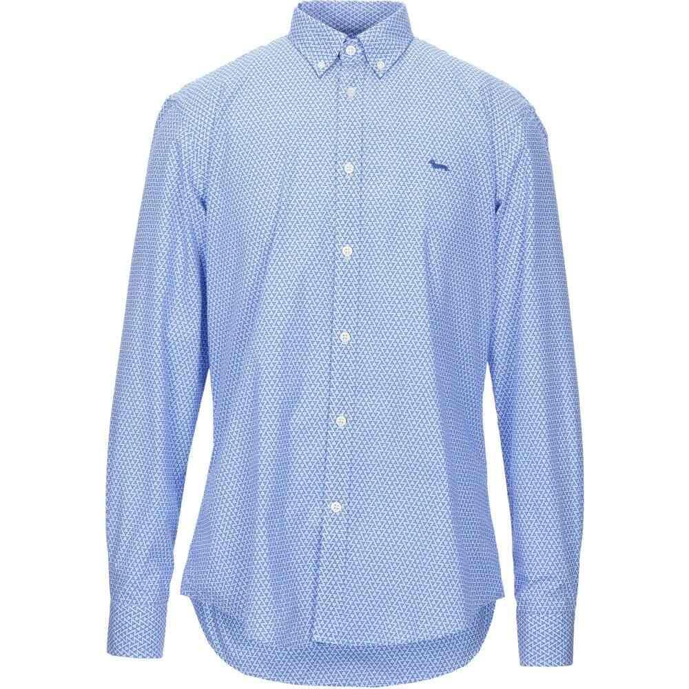 ハーモント アンド ブレイン HARMONT&BLAINE メンズ シャツ トップス【patterned shirt】Azure