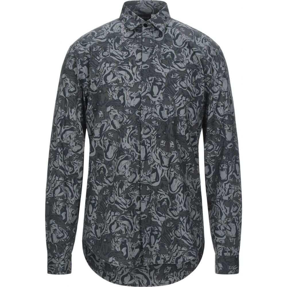 トップス【patterned CAVALLI カヴァリ shirt】Grey シャツ メンズ ジャスト JUST
