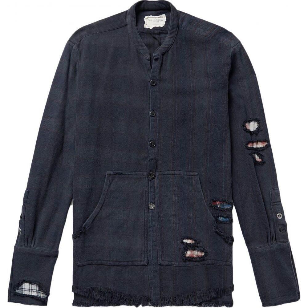 グレッグ ローレン GREG LAUREN メンズ シャツ トップス【patterned shirt】Dark blue