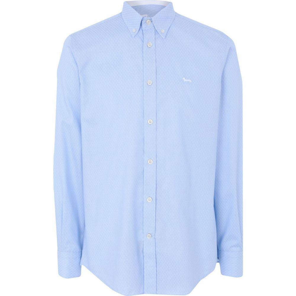ハーモント アンド ブレイン HARMONT&BLAINE メンズ シャツ トップス【patterned shirt】Sky blue