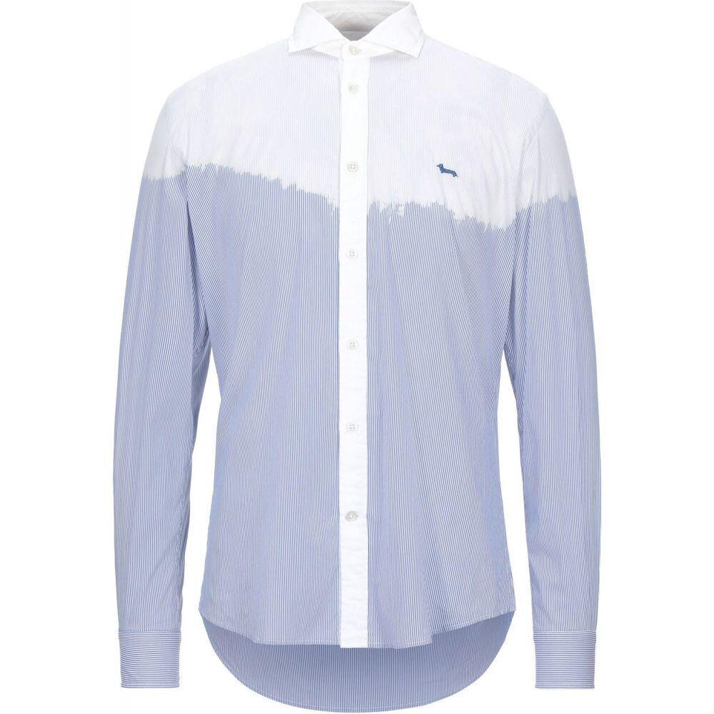 ハーモント アンド ブレイン HARMONT&BLAINE メンズ シャツ トップス【striped shirt】Blue