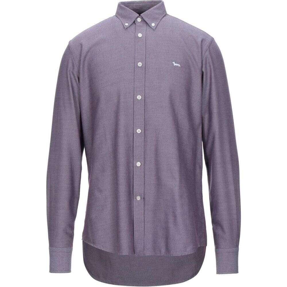 ハーモント アンド ブレイン HARMONT&BLAINE メンズ シャツ トップス【patterned shirt】Purple