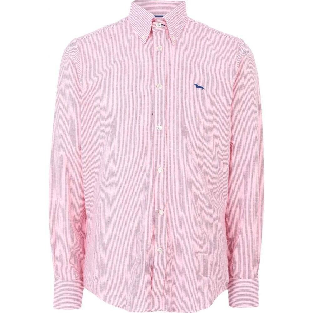 ハーモント アンド ブレイン HARMONT&BLAINE メンズ シャツ トップス【linen shirt】Coral