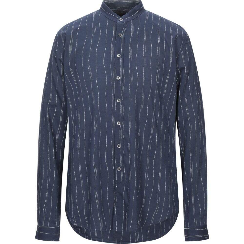 ジョン バルベイトス JOHN VARVATOS メンズ シャツ トップス【striped shirt】Dark blue