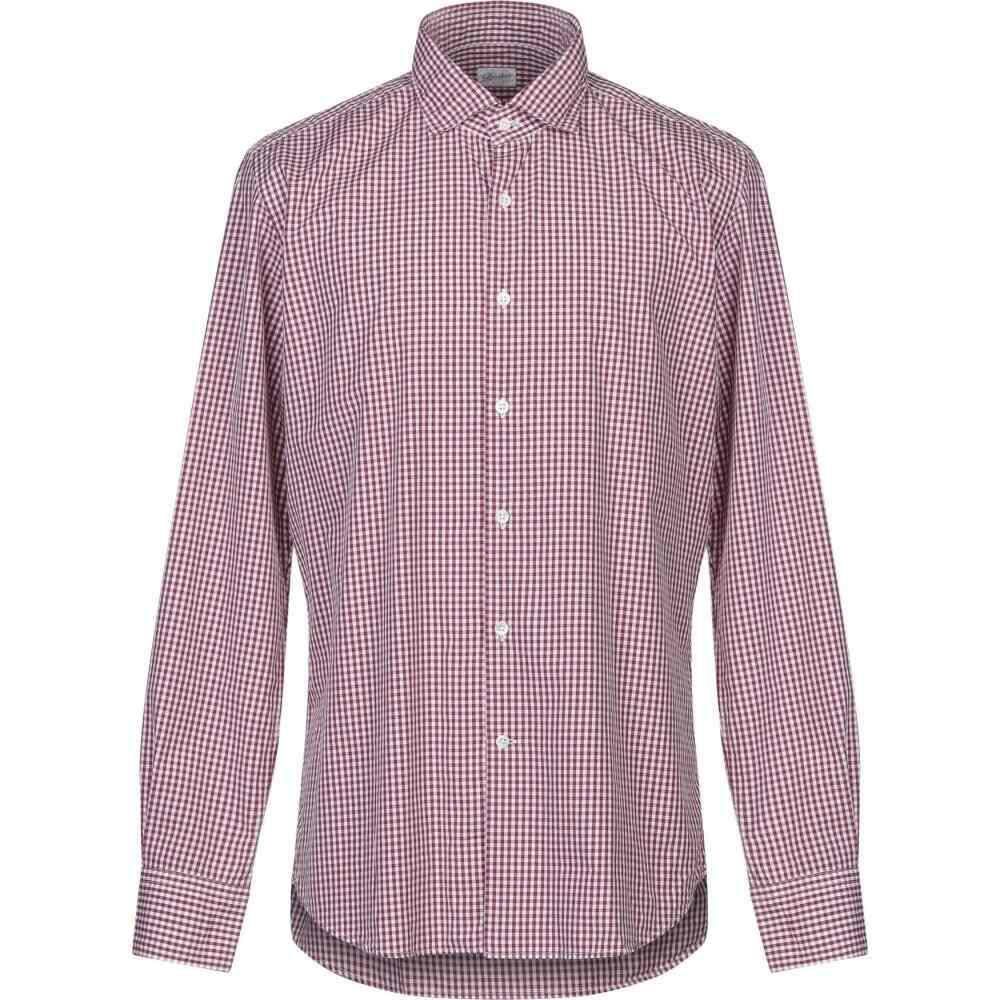 グランシャツ GLANSHIRT メンズ シャツ トップス【checked shirt】Maroon
