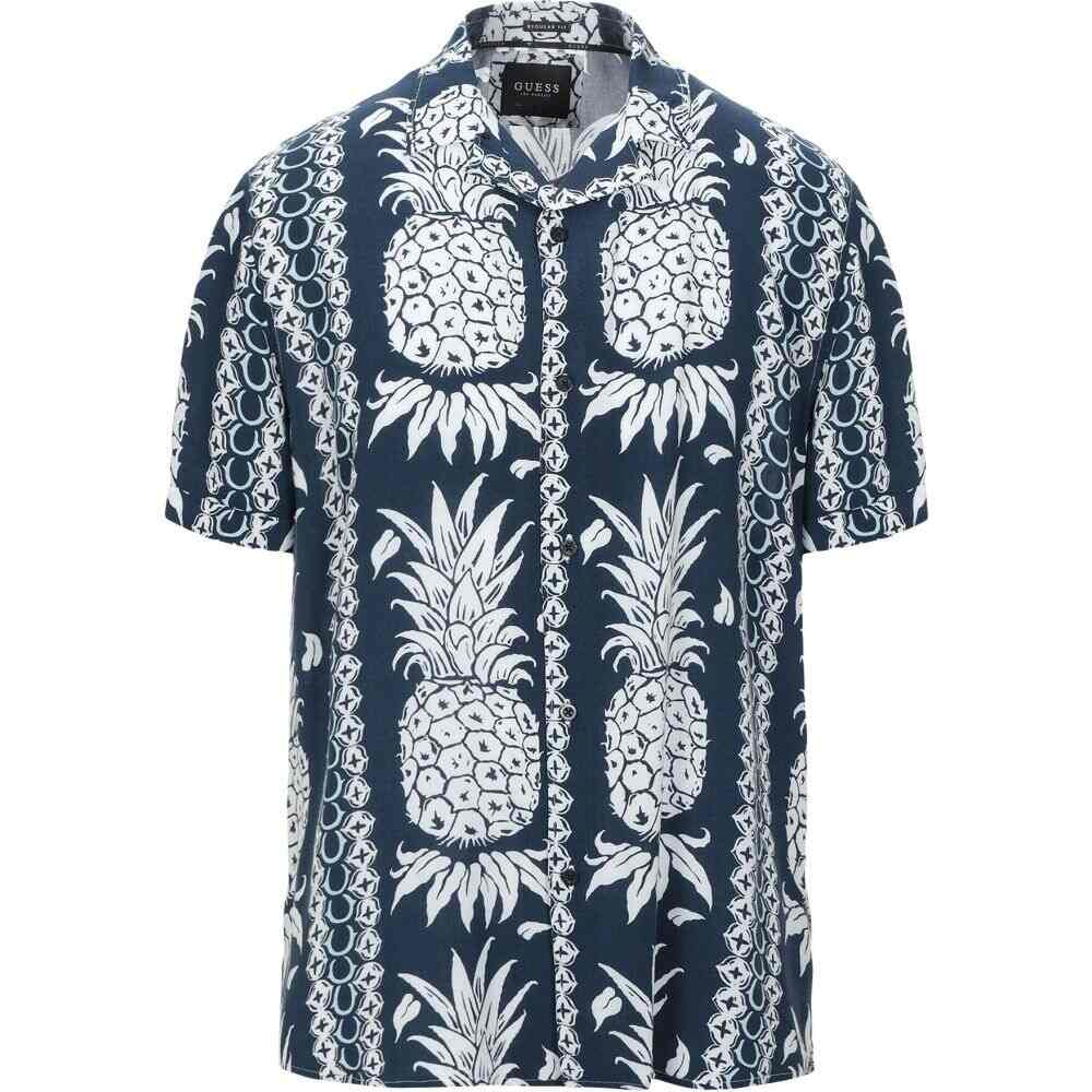 ゲス GUESS メンズ シャツ トップス【patterned shirt】Dark blue