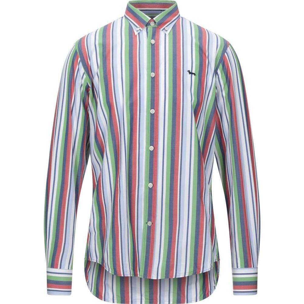 ハーモント アンド ブレイン HARMONT&BLAINE メンズ シャツ トップス【striped shirt】Green