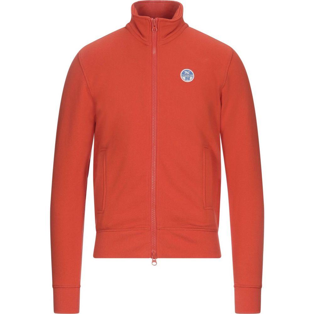 ノースセール メンズ 定価 トップス スウェット トレーナー サイズ交換無料 Orange sweatshirt NORTH 通販 激安◆ SAILS