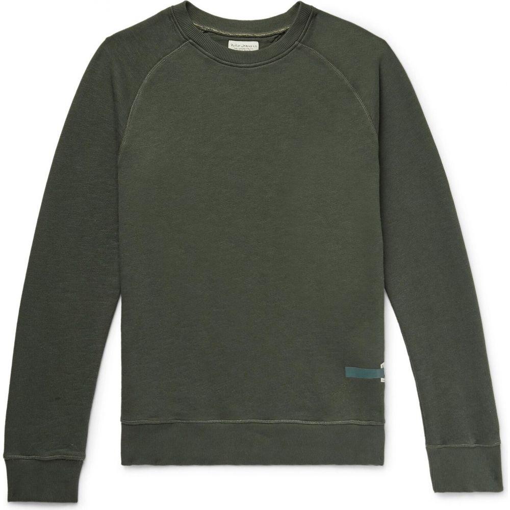 ヌーディージーンズ NUDIE JEANS CO メンズ スウェット・トレーナー トップス【sweatshirt】Military green