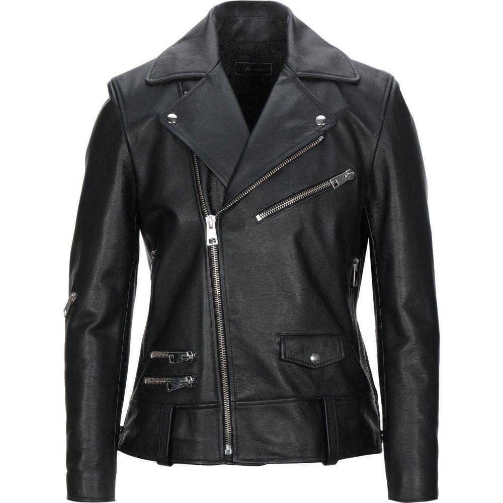 パウラ PAURA メンズ ジャケット ライダース アウター【biker jacket】Black