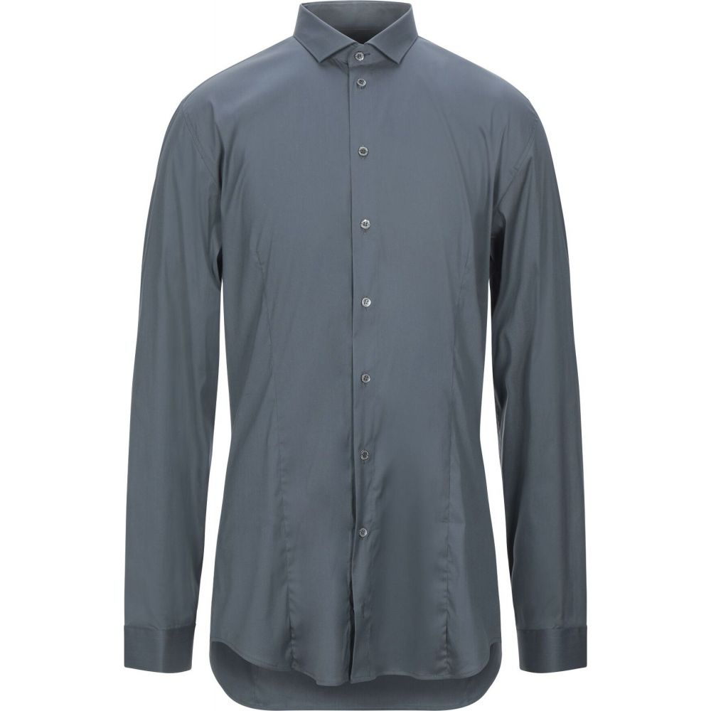 パトリツィア ペペ PATRIZIA PEPE メンズ シャツ トップス【solid color shirt】Grey:フェルマート