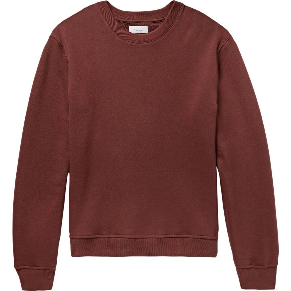 ファンメール FANMAIL メンズ スウェット・トレーナー トップス【sweatshirt】Brick red