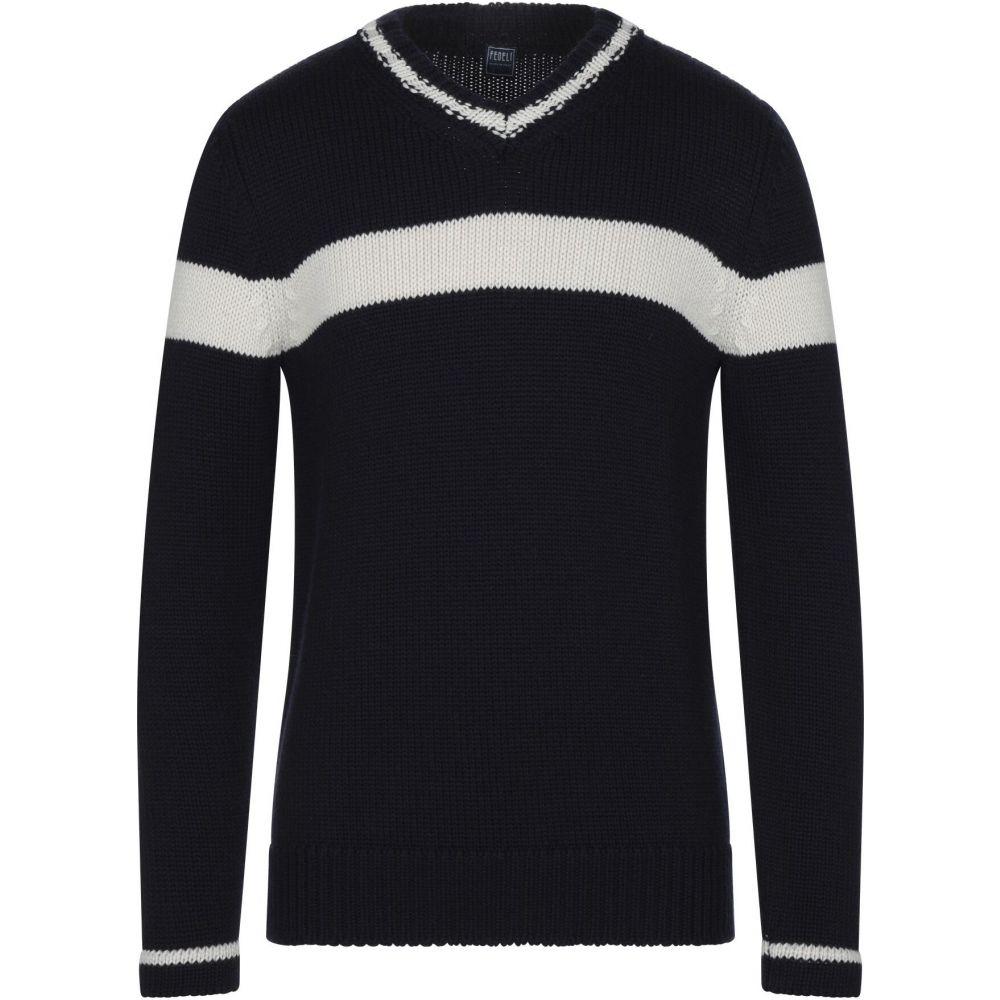気質アップ フェデーリ FEDELI メンズ ニット・セーター トップス【sweater】Dark blue, ワットマン 204c4d0f