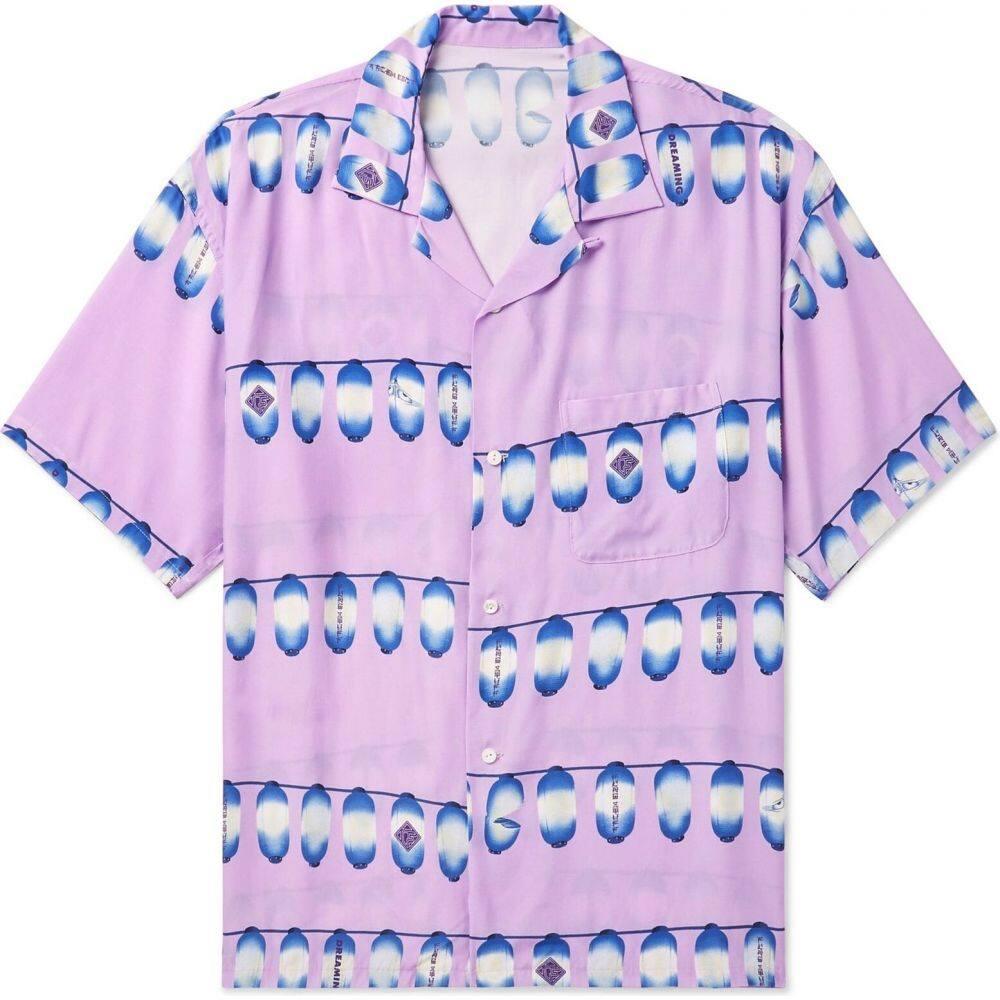 フラグスタフ FLAGSTUFF メンズ シャツ トップス【patterned shirt】Lilac