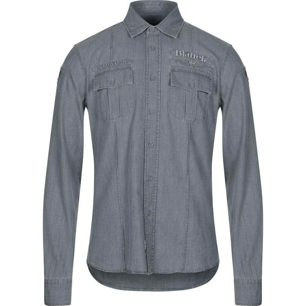 シャツ BLAUER デニム shirt】Grey メンズ ブラウアー トップス【denim