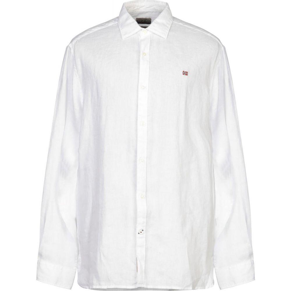 ナパピリ NAPAPIJRI メンズ シャツ トップス【linen shirt】White