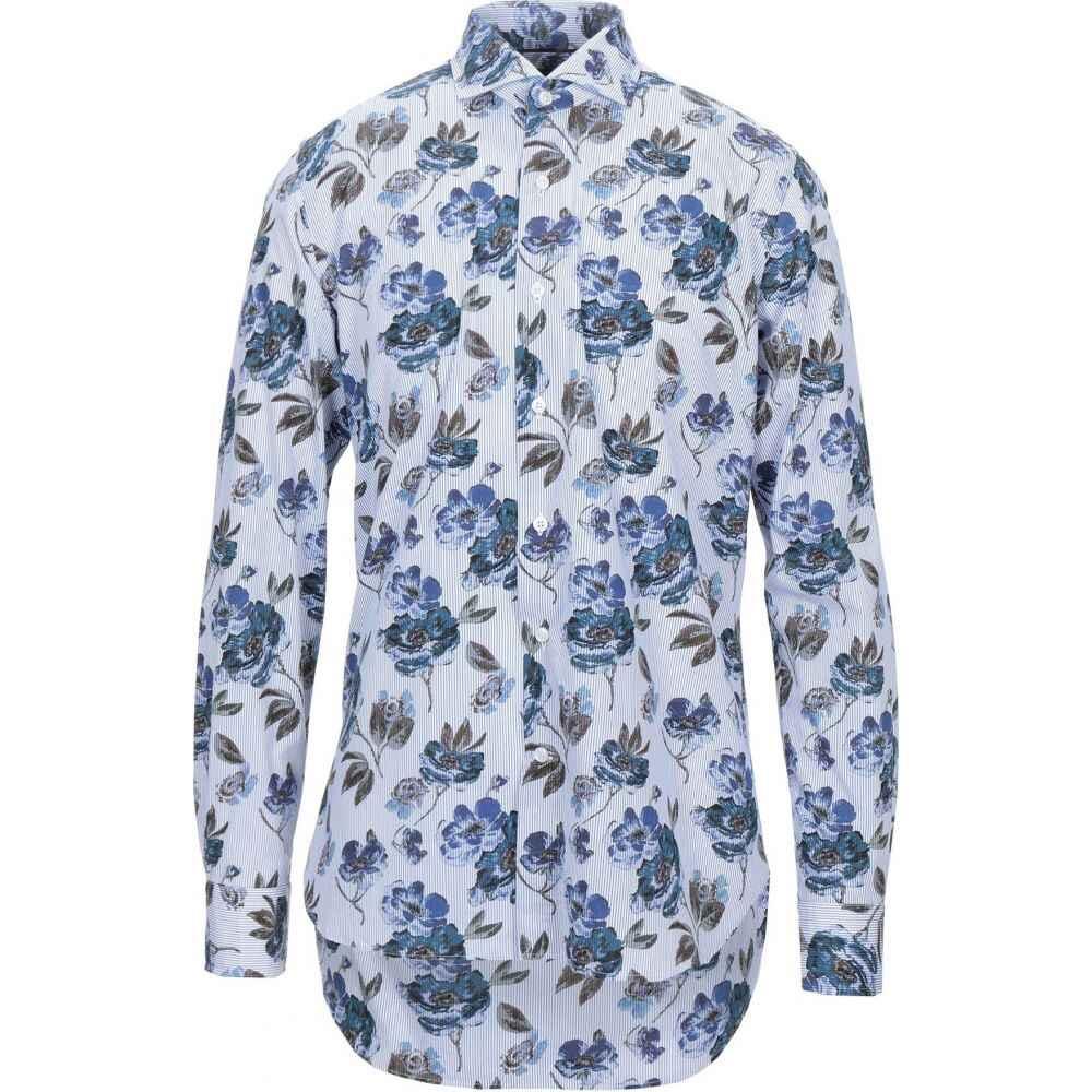 オリアン ORIAN メンズ シャツ トップス【patterned shirt】Blue