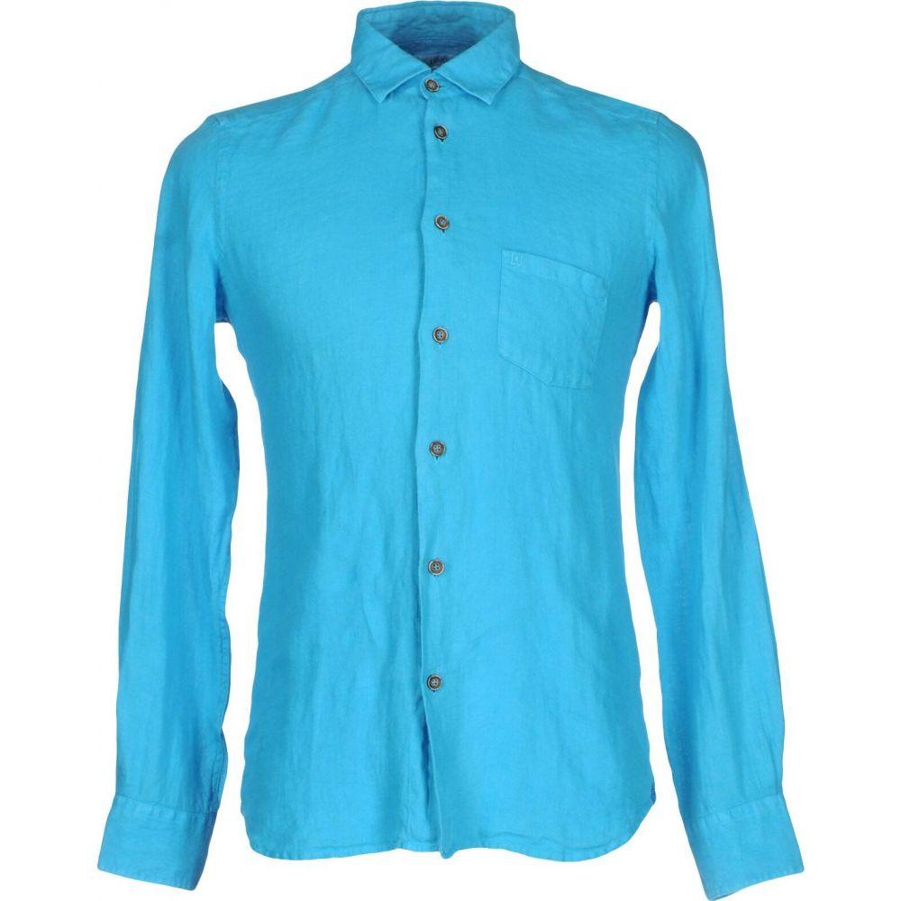 リウジョー LIU JO MAN メンズ シャツ トップス【linen shirt】Turquoise