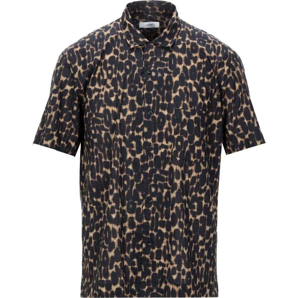 マウロ グリフォーニ MAURO GRIFONI メンズ シャツ トップス【patterned shirt】Khaki