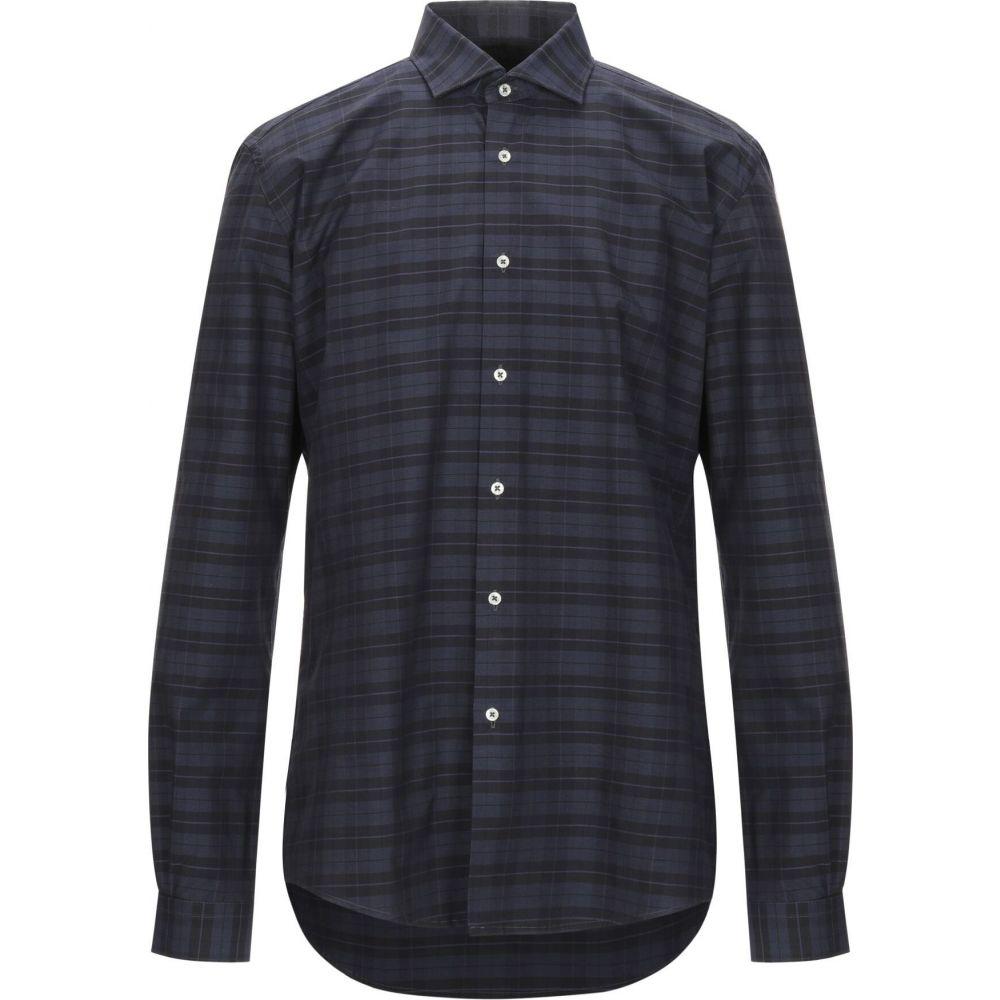 リウジョー LIU JO MAN メンズ シャツ トップス【checked shirt】Dark blue
