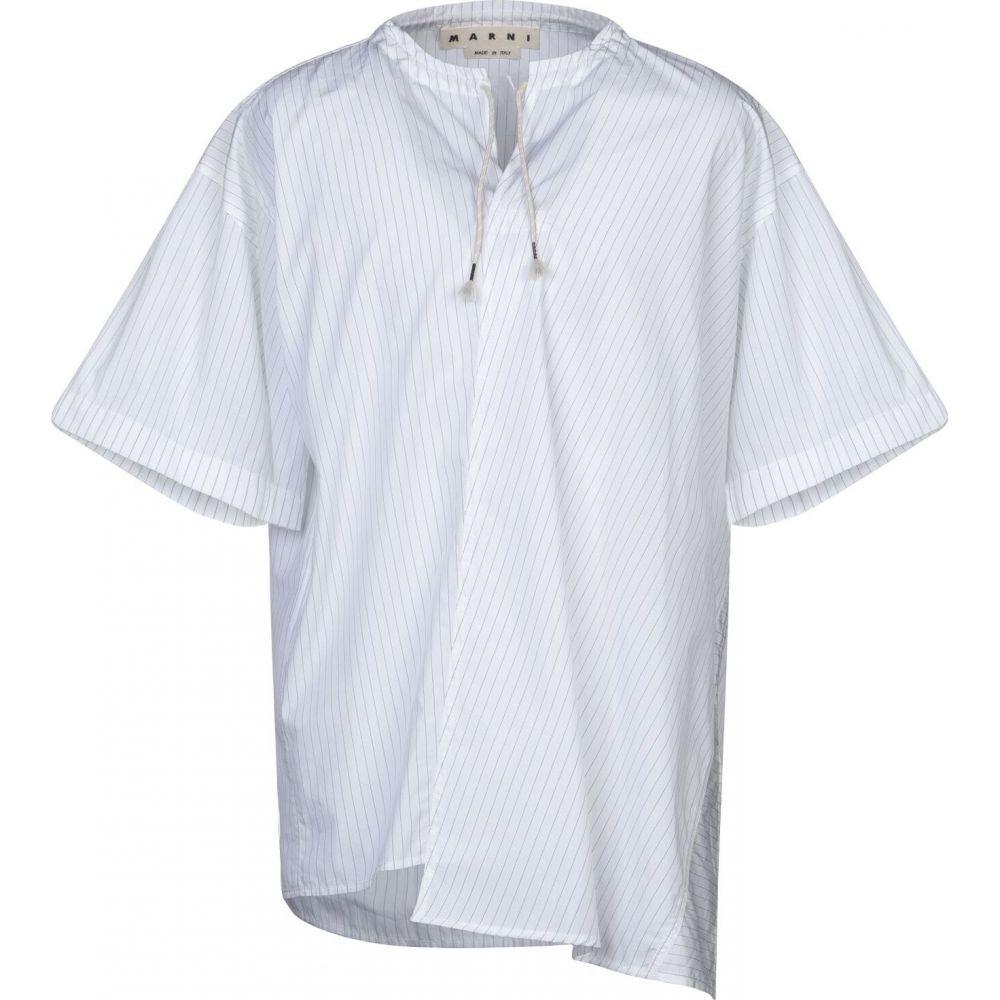 マルニ MARNI メンズ シャツ トップス【striped shirt】White