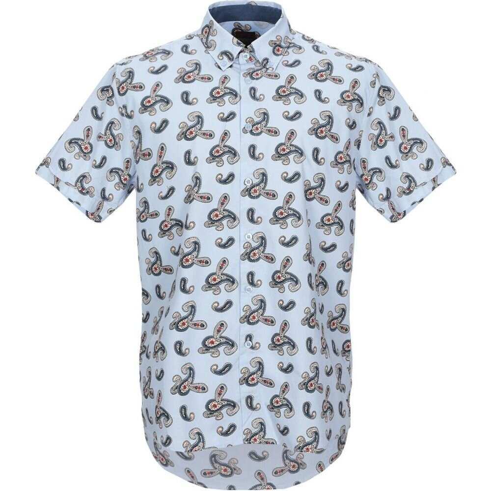 メルク MERC メンズ シャツ トップス【patterned shirt】Sky blue