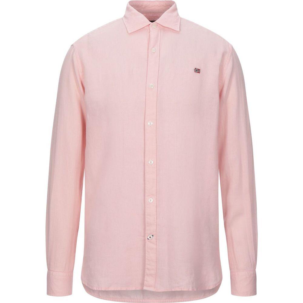 ナパピリ NAPAPIJRI メンズ シャツ トップス【linen shirt】Pink