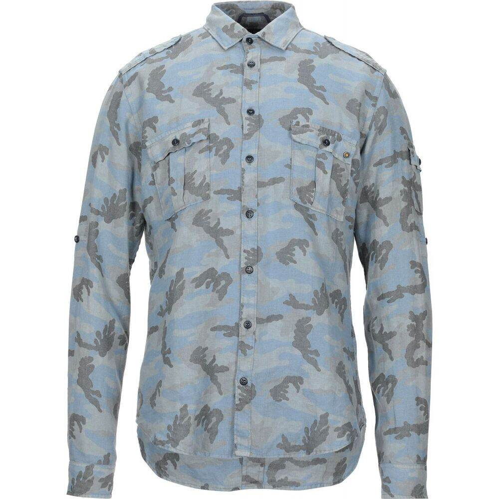メイソンズ MASON'S メンズ シャツ トップス【linen shirt】Sky blue