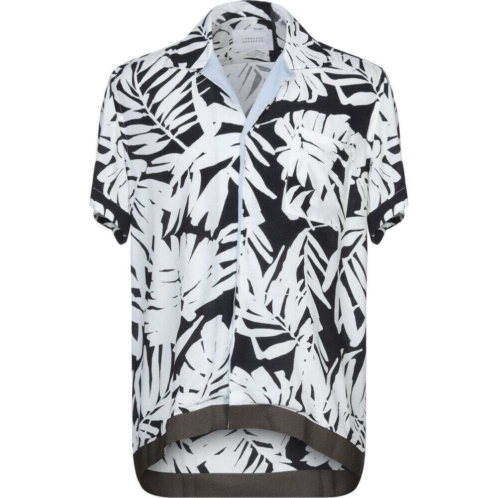 ロウブランド LOW BRAND メンズ シャツ トップス【patterned shirt】White