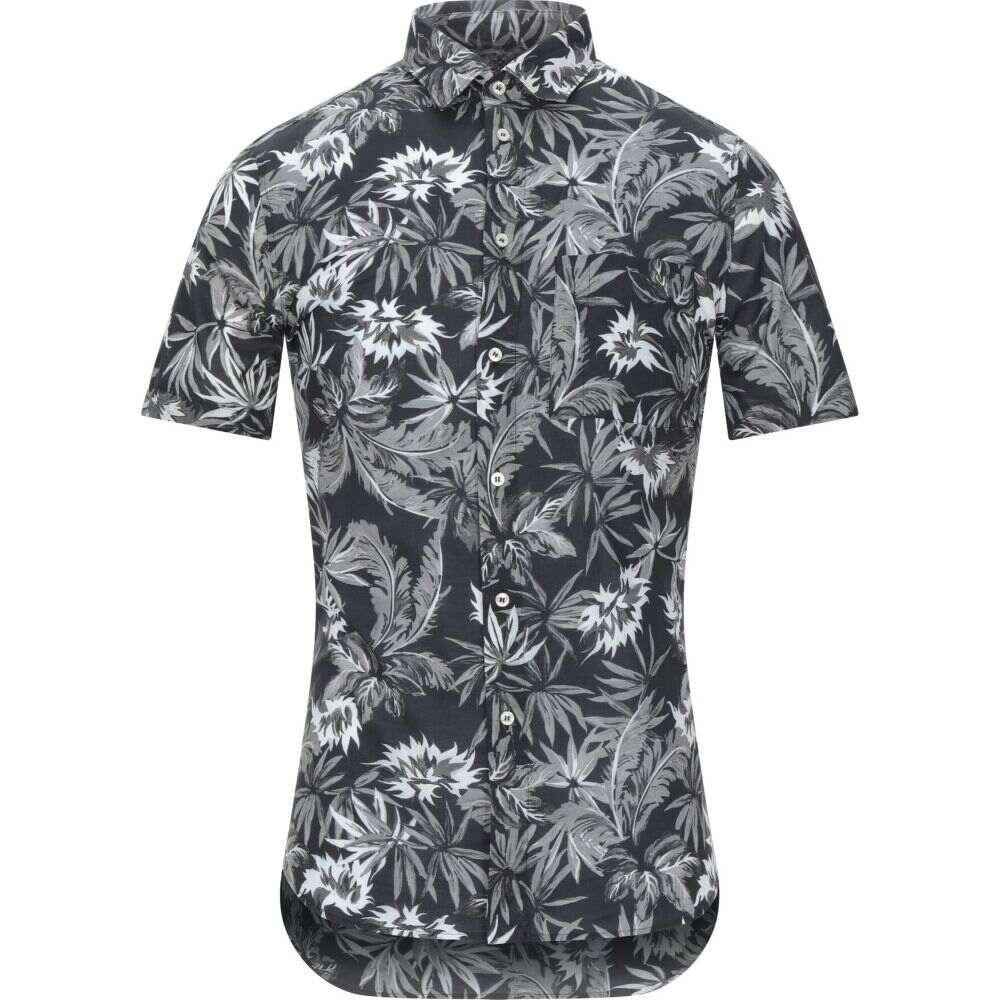 パオロ ペコラ PAOLO PECORA メンズ シャツ トップス【patterned shirt】Black