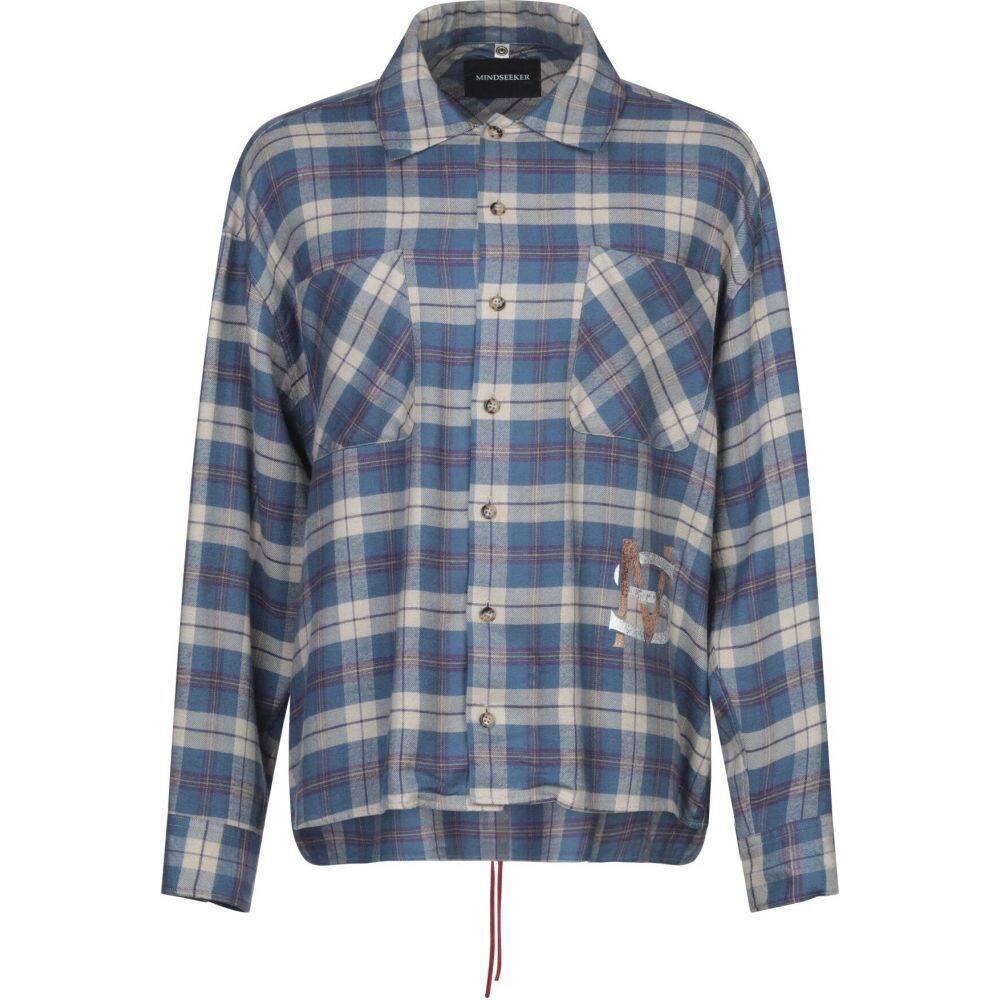 マインドシーカー MINDSEEKER メンズ シャツ トップス【checked shirt】Azure