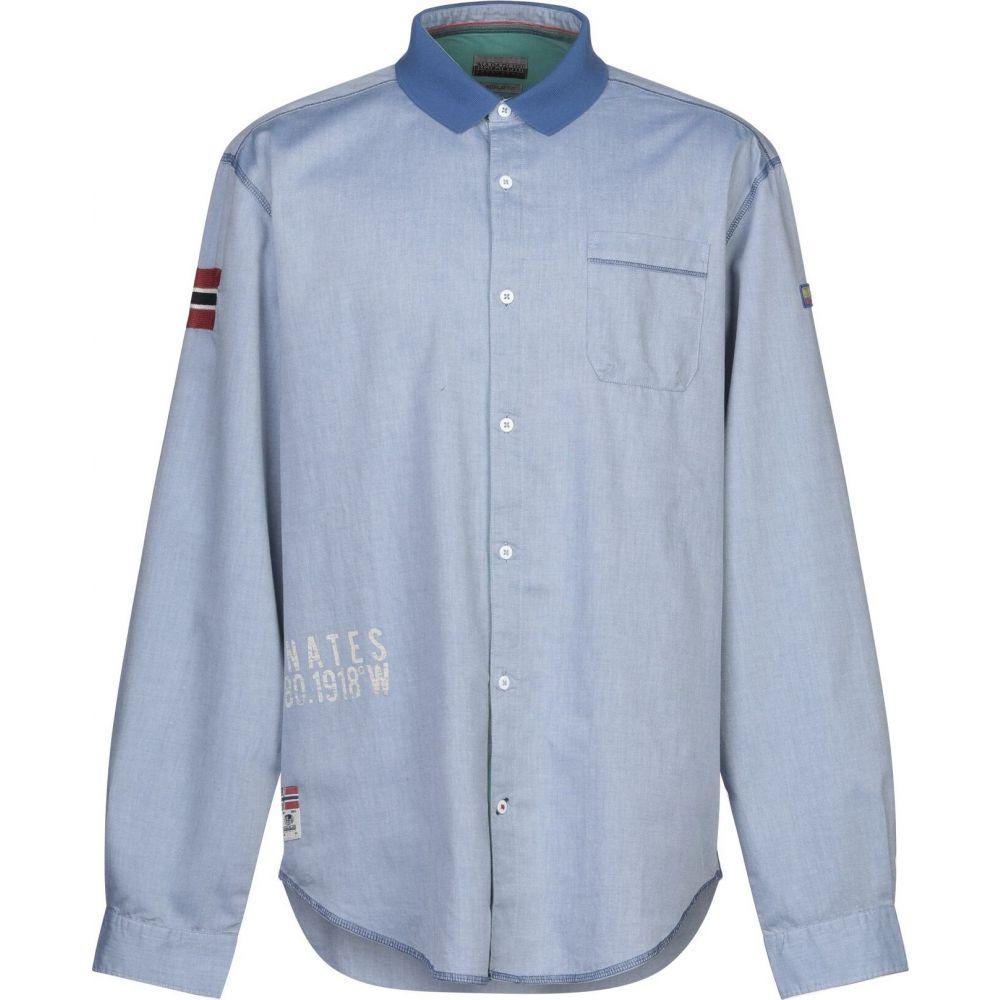 ナパピリ NAPAPIJRI メンズ シャツ トップス【patterned shirt】Sky blue
