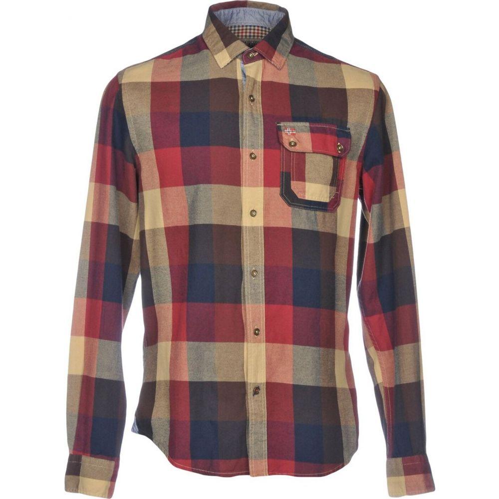 ナパピリ NAPAPIJRI メンズ シャツ トップス【checked shirt】Maroon