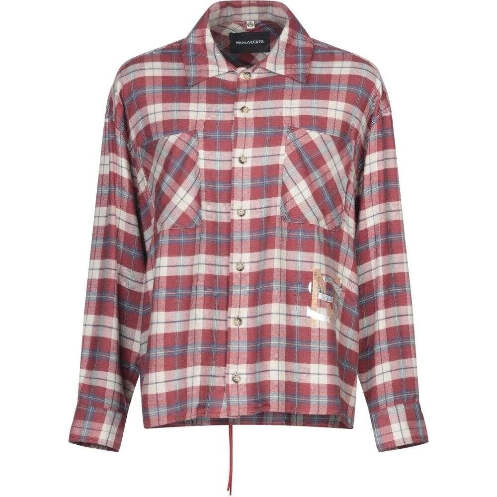 マインドシーカー MINDSEEKER メンズ シャツ トップス【checked shirt】Brick red