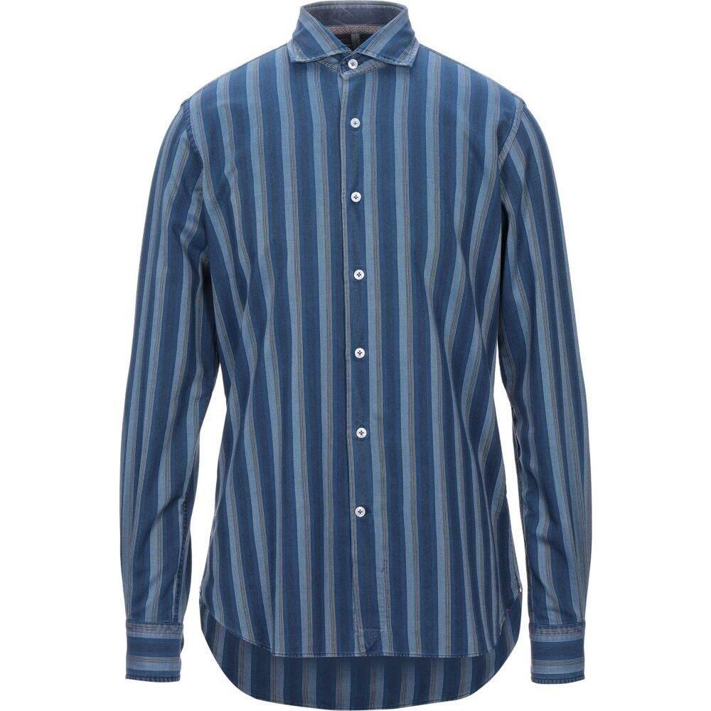オリアン ORIAN メンズ シャツ トップス【patterned shirt】Slate blue