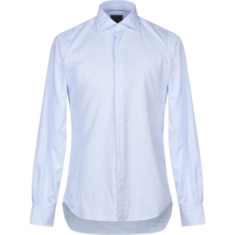 オリアン ORIAN メンズ シャツ トップス【patterned shirt】Sky blue