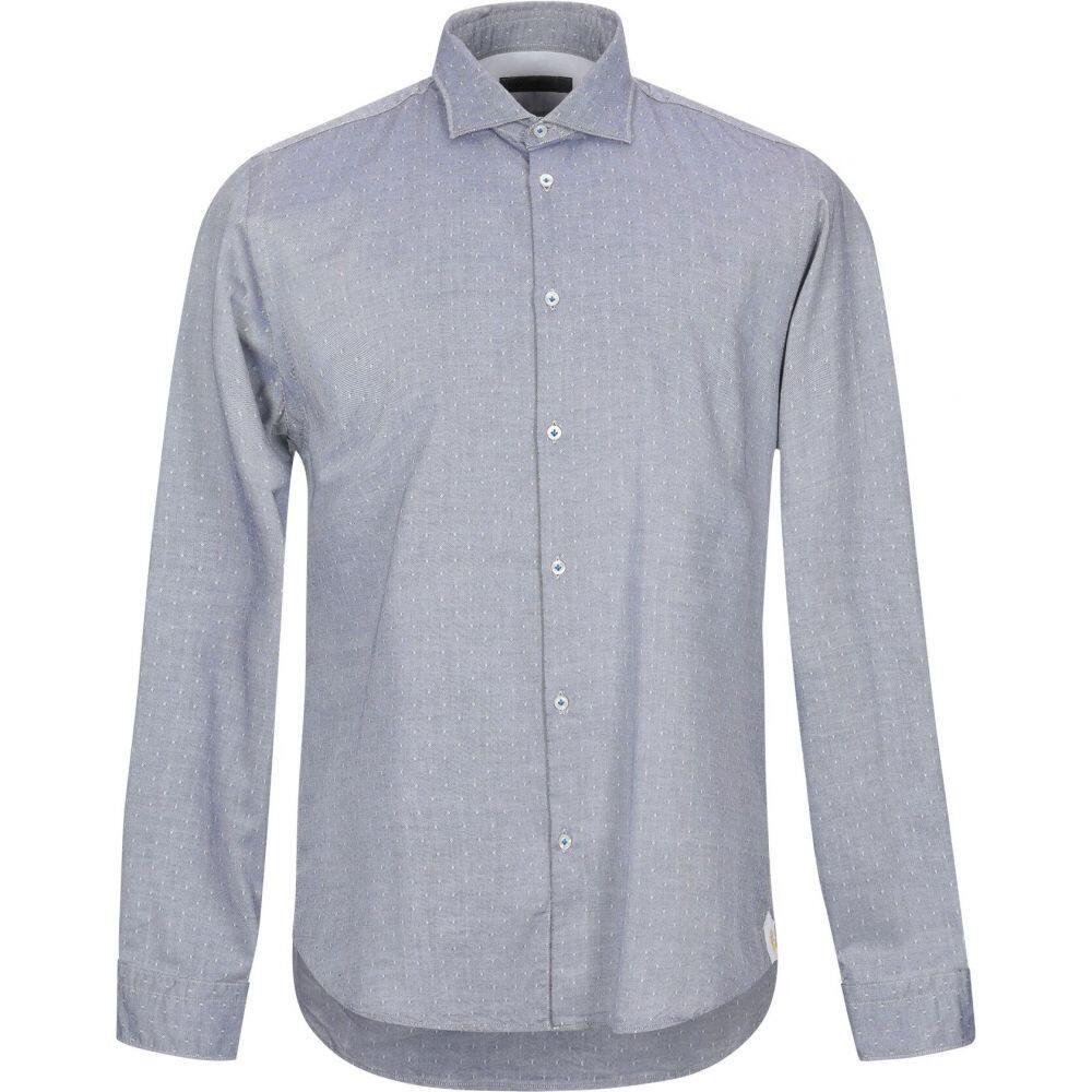マニュエル リッツ MANUEL RITZ メンズ シャツ トップス【patterned shirt】Dark blue
