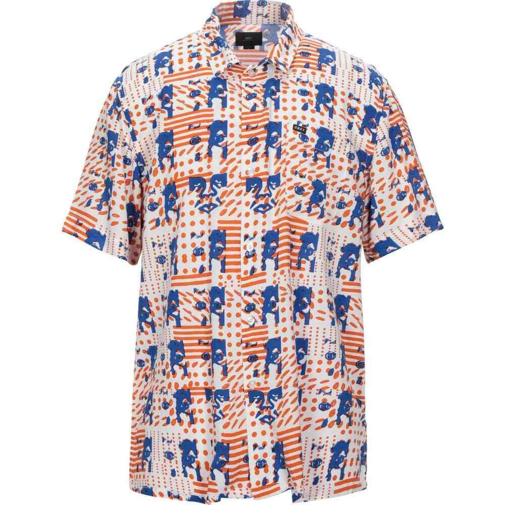 オベイ OBEY メンズ シャツ トップス【patterned shirt】White