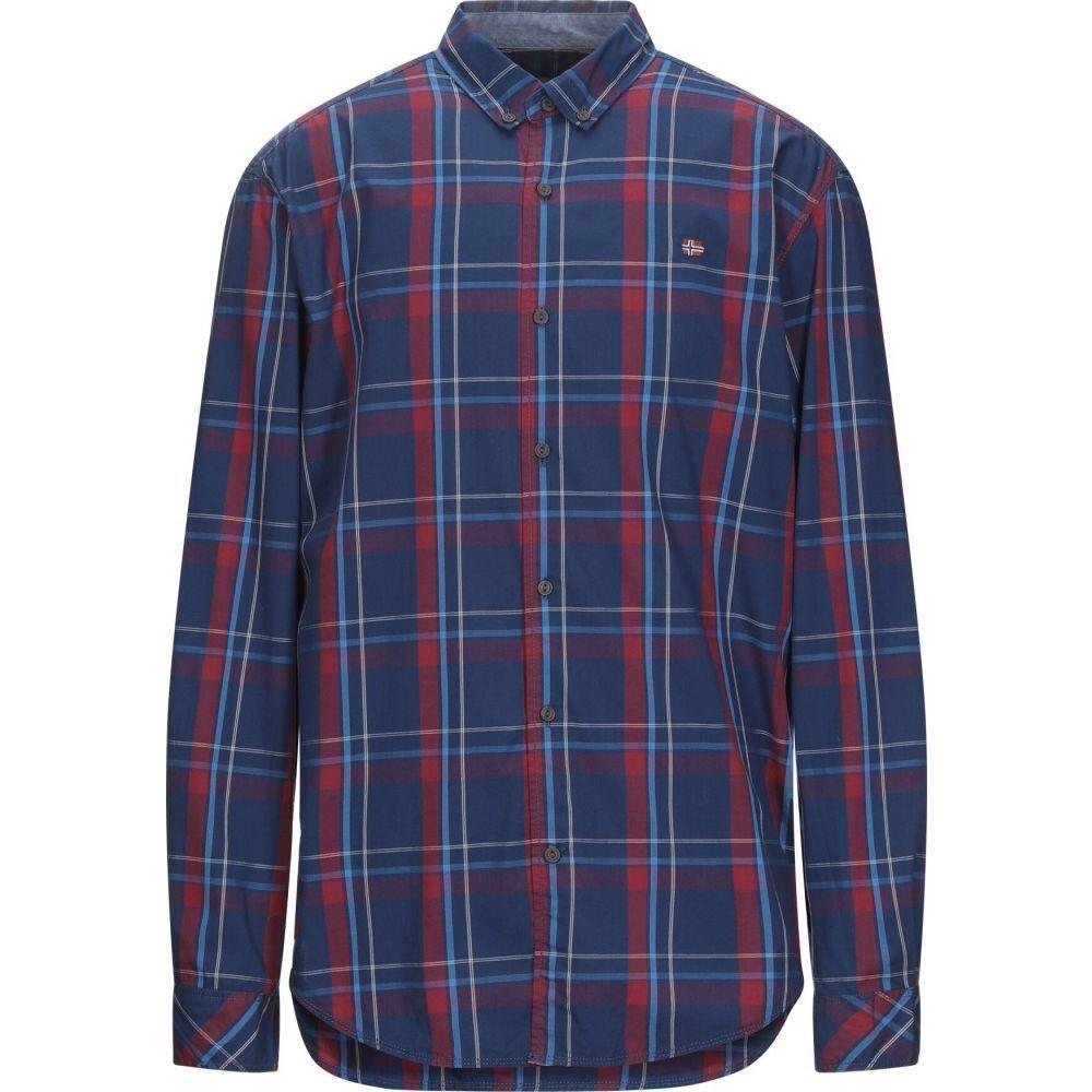 ナパピリ NAPAPIJRI メンズ シャツ トップス【checked shirt】Blue