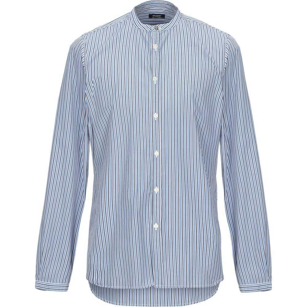 オフィチーナ トレンタ セイ OFFICINA 36 メンズ シャツ トップス【striped shirt】Azure