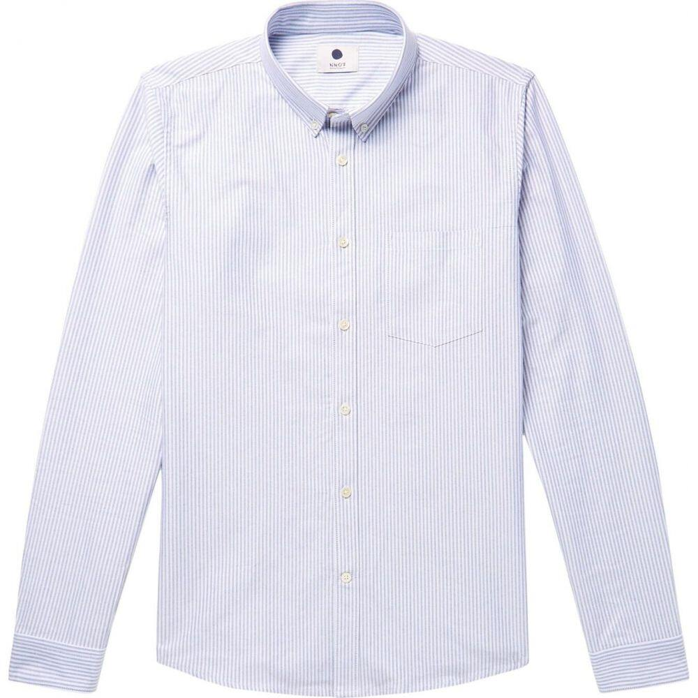 NN07 メンズ シャツ トップス【striped shirt】Blue