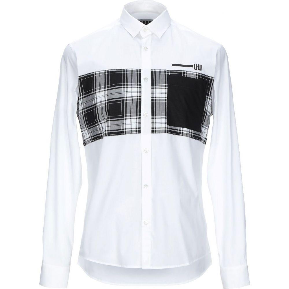 LHU アーバン LHU URBAN メンズ シャツ トップス【patterned shirt】White