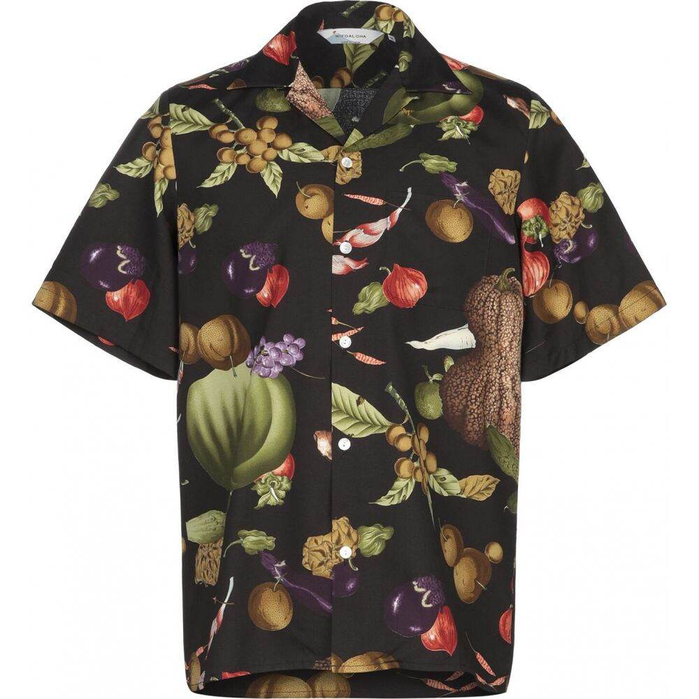 ニポアロハ NIPOALOHA メンズ シャツ トップス【patterned shirt】Black