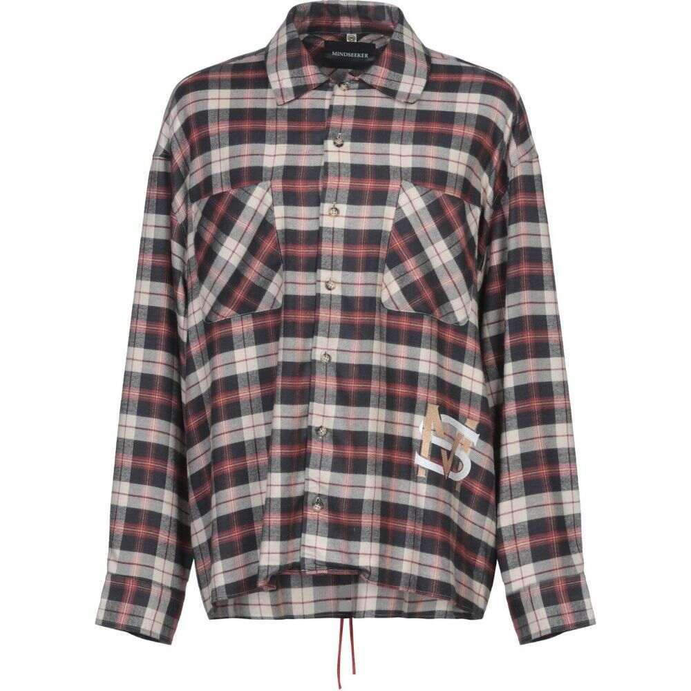 マインドシーカー MINDSEEKER メンズ シャツ トップス【checked shirt】Dark blue