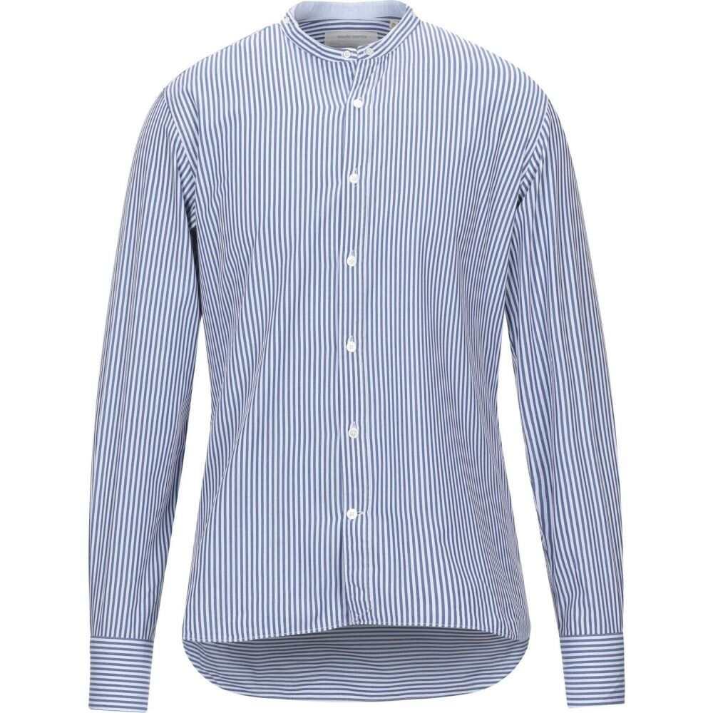 マウロ グリフォーニ MAURO GRIFONI メンズ シャツ トップス【striped shirt】Blue