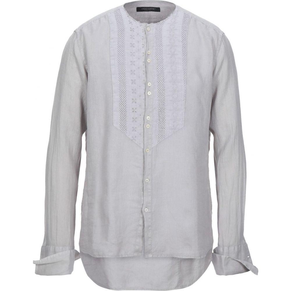 メッサジェリエ MESSAGERIE メンズ シャツ トップス【linen shirt】Light grey