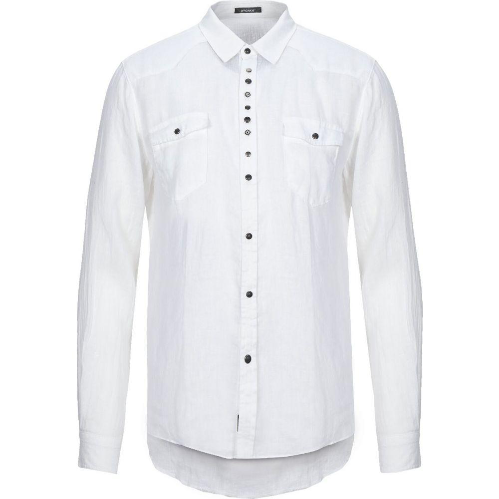 オフィチーナ トレンタ セイ OFFICINA 36 メンズ シャツ トップス【linen shirt】White