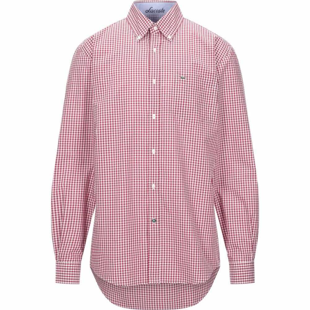 ラコステ LACOSTE メンズ シャツ トップス【checked shirt】Red