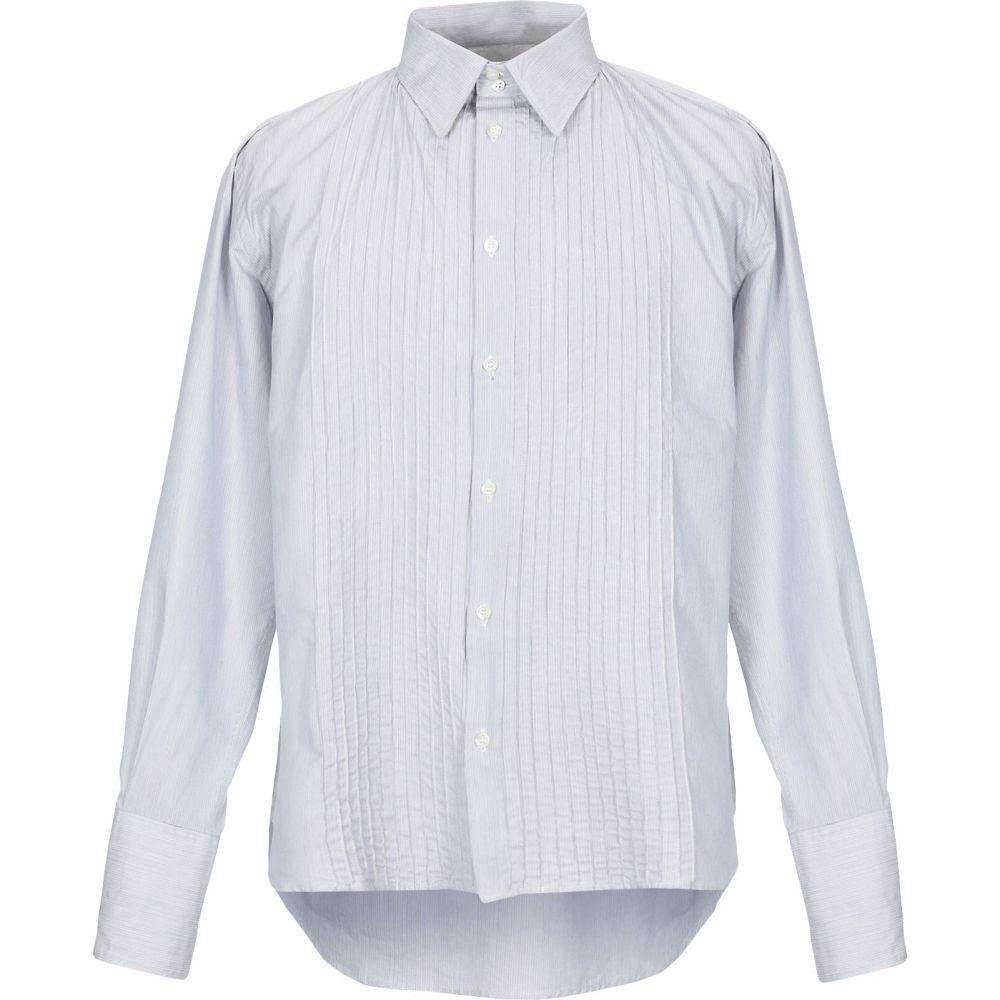 メッサジェリエ MESSAGERIE メンズ シャツ トップス【striped shirt】Light grey